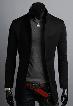 Shop a great selection of Men's Premium China Collar Long Blazer Jacket Coat. Find new offer and Similar products for Men's Premium China Collar Long Blazer Jacket Coat. Mode Outfits, Fashion Outfits, Style Fashion, Long Blazer Jacket, Men Blazer, Men's Jacket, Bomber Jacket, Herren Outfit, Suits