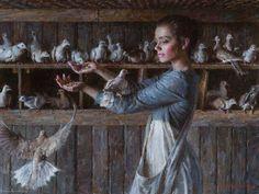 "Morgan Weistling, ""The Dove Keeper"" 18x24"