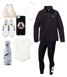 """""""Untitled #86"""" by denisse-arellanoaguirre on Polyvore featuring NIKE, adidas Originals, Hollister Co., Patagonia, Casetify, Kendra Scott and Swell"""