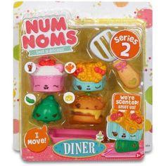 Num Noms Series 2 Scented 4pk, Diner, Multicolor