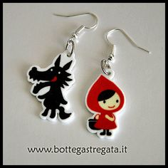 Earrings little Red Riding Hood and the Wolf by BottegaStregata