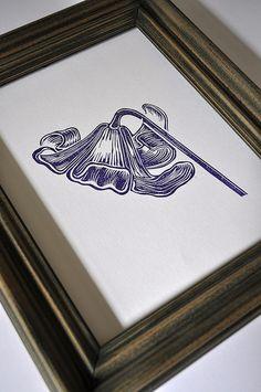 Flower Lino Cut Print | Flickr - Photo Sharing!