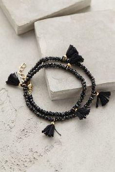 Shashi Fluttered Tassel Wrap Bracelet #anthrofave