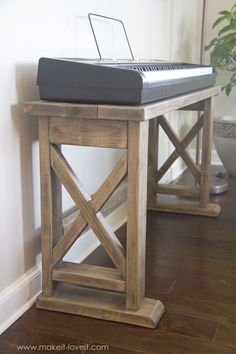DIY Digital Piano Stand plus Bench (...a $25 project!!) | Make It and Love It Read Review here whatdigitalpiano.com