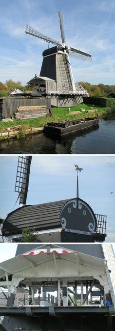 Saw mill De Eenhoorn, Haarlem-Schalkwijk, the Netherlands.