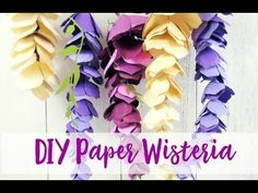 Paper Wisteria Tutorial: DIY Hanging Paper Wisteria Flowers. If you want to learn how to make paper hanging wisteria, you've come to the right place! Click to read more now and get started!