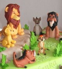 Lion king    Персонажи - Мастер-классы по украшению тортов Cake Decorating Tutorials (How To's) Tortas Paso a Paso