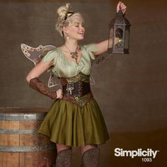 Add a steampunk touch to your favorite fairy costume with Simplicity Pattern 1093!