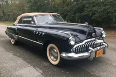 Bid for the chance to own a 1949 Buick Roadmaster Convertible at auction with Bring a Trailer, the home of the best vintage and classic cars online. Vintage Cars, Antique Cars, Retro Cars, Seymour, Buick Roadmaster, Car Design Sketch, Lifted Ford Trucks, Abandoned Cars, Red Interiors