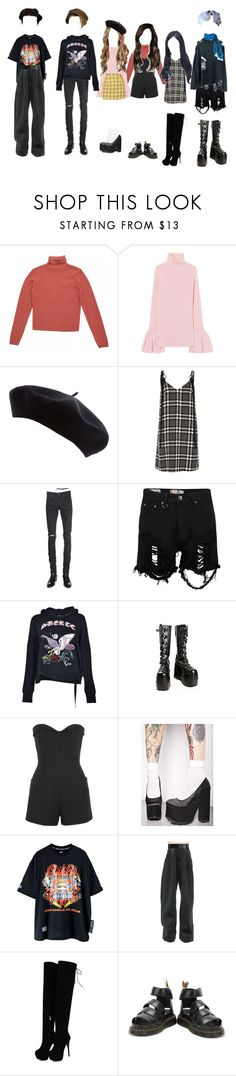 """~ Model Intros ~"" by missbehave-models ❤ liked on Polyvore featuring River Island, Yves Saint Laurent, Boohoo, Marcelo Burlon, Demonia, Tamara Mellon, Y.R.U., Puma and Dr. Martens"