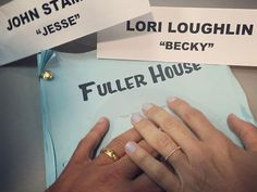 """John Stamos shares this pic to Instagram with the caption, """"Becky and Jesse together Forever. #FullerHouse. #Netflix,"""" on July 27, 2015.   - Cosmopolitan.com"""