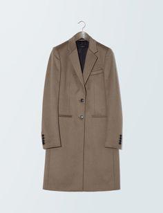 Joseph Wool Man Coat in Camel