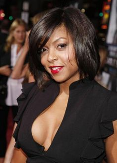 Taraji Henson showing us how to rock a messy bob - Movie And Comic Beautiful Women Over 40, Most Beautiful Faces, Beautiful Gorgeous, Beautiful Celebrities, Beautiful People, Taraji P Henson, Thick Girl Fashion, Vintage Black Glamour, Messy Bob
