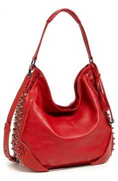 Poverty Flats By Rian Red Studded Hobo Purse Available At Nordstrom 88