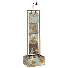 Kenroy Home Linear Flow Slate Indoor Floor Fountain | LampsPlus.com