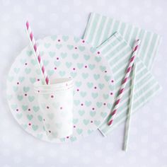Mint Hearts Tableware Collection
