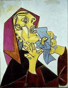 Pablo Picasso. La femme qui pleure avec mouchoir III. 1937 year