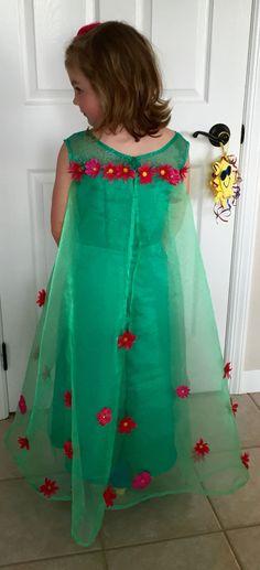 Elsa Frozen Fever dress- back