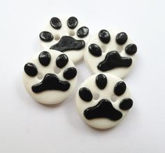 Paw buttons polymer clay buttons