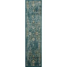 Hand-Tufted Telford Floral Wool Rug (2'3 x 10') | Overstock.com Shopping - The Best Deals on Runner Rugs