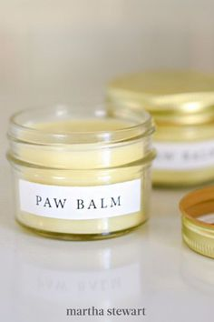 Cold weather can often mean irritated paws for your pet. To help keep them healthy and safe, stash this homemade balm—made with all-natural ingredients like shea butter, coconut oil, and beeswax nearby. #marthastewart #lifestyle #petcare #pets Sugar Scrub Diy, Sugar Scrubs, Catnip Toys, Cat Crafts, Soap Making, Dog Friends, Cool Cats, Pet Care, Shea Butter