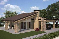 Villa, nuova, 150 mq, Buggiano Village House Design, Village Houses, Simple House Plans, Dream House Plans, Dream Home Design, Modern House Design, Facade Design, Architecture Design, Online Architecture