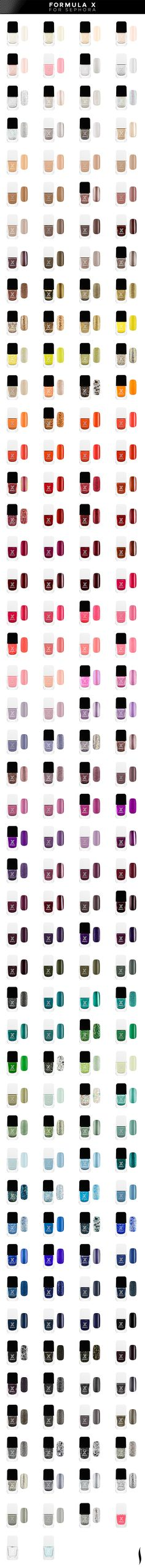 Introducing the next in nail: Formula X for Sephora. More than 190 shades. I have tried this polish & I love it. It is long lasting, wears well. In my opinion, it ranks with OPI!
