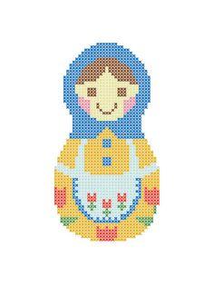 Russian MATRYOSHKA crossstitch design by TiSOJ on Etsy, $2.29