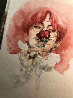 to drawing bts Purple Day, Red Day, V Chibi, Art Du Croquis, Taehyung Fanart, Drawn Art, Arte Sketchbook, Kpop Drawings, Kpop Fanart