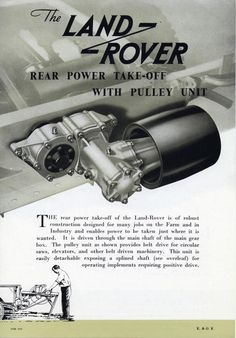 Rear power take-off with pully unit.