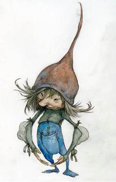 Pleased - Pencil, coloured pencil, watercolour