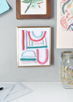 DIY Embroidered Art on Design*Sponge