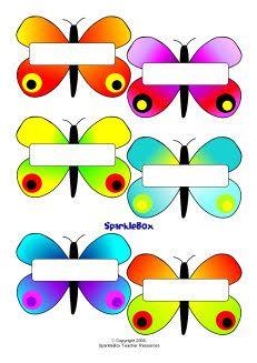 Self registration butterflies (SB1409) - SparkleBox
