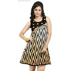 Triveni Delightful Printed Casual Wear Polyester Faux Georgette Kurti for Rs 1359/- www.celebstall.com