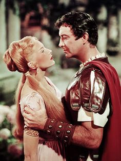 "Robert Taylor with Deborah Kerr in ""Quo Vadis""  (1951)"