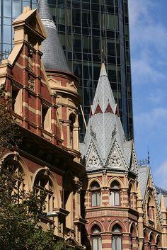 Victorian architecture on Collins Street, Melbourne, Australia | by erikaland, via Flickr.