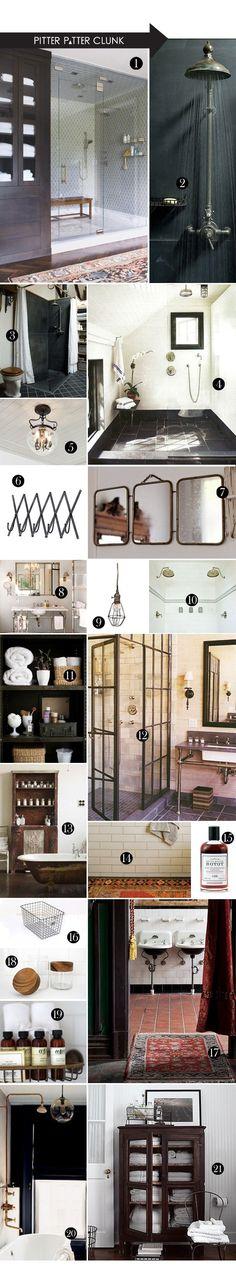 Upstairs Bathroom Option I | The Moon & The Honey Industrial Bathroom