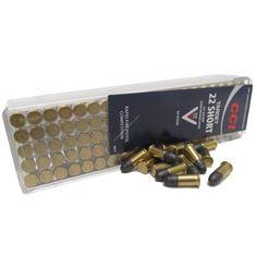 CCI 22 short 29Gr target ammunition features a 29 grain lead round nose bullet.