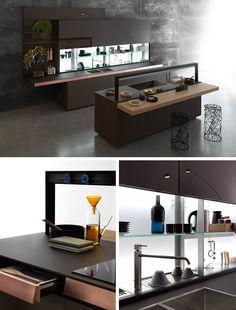GENIUS LOCI | Kitchen with island by @valcucine #design Gabriele Centazzo