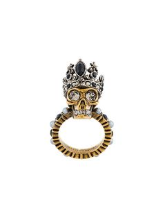 Shop Alexander McQueen Queen Skull ring.