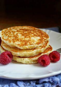 Lemon Souffle Pancakes with Raspberry Syrup - Christina's Cucina