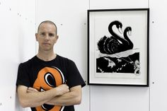 Simplesime with Swan & Seahorse print for Ink Dots Black Spots 2013