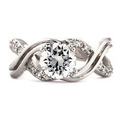 Kellie E: 2.26ct Russian Ice Diamond CZ Infinity Engagement Band Ring - Trustmark Jewelers