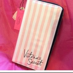 NWT. Victoria's Secret Pink&White Travel Wallet ❌SOLD OUT❌Bundle for Paola (2 travel wallets) ❌NWT. Pink&White Striped travel wallet (holds cash, cards, passport, boarding pass and pen) Victoria's Secret (2) Available Victoria's Secret Bags Wallets