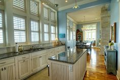 This is a wonderful beach house kitchen.