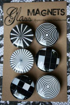 Glass Magnets  Illusion by ZephyrDesignsAlaska on Etsy, $8.00