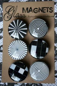 Glass Magnets  Illusion by ZephyrDesignsAlaska on Etsy, $8.00