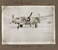 Jan., 1945 - A-20 Havoc - Belgium - A-78 Belgium, Wwii, Air Force, Fighter Jets, Group, World War Ii, Hunting