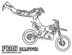 dirtbike print outs motocross coloring page