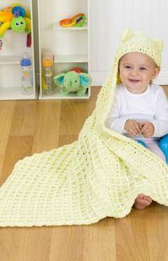 Best Free Crochet » Free Cozy Hooded Blanket Crochet Pattern From RedHeart.com #170